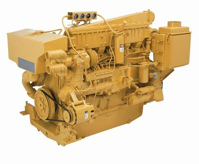 3406C Marine Diesel Engine: Image courtesy of Caterpillar Marine