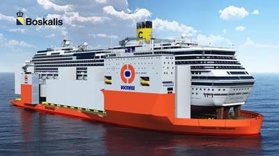 Costa Concordia transportation: Artist's impression courtesy of Boskalis