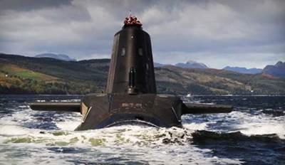 RN Astute-class submarine: Photo credit MOD