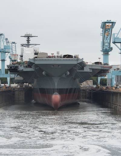 CVN Float Out: Photo courtesy of HII