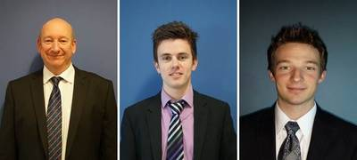 From left: Bob Barrett, Sales Manager; Ashley Anderson, Sales Engineer and  Scott Williams, Sales Engineer
