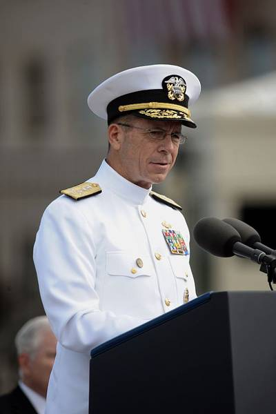 Adm. Michael Mullen, the chairman of the Joint Chiefs of Staff-- U.S. Navy photo by Mass Communication Specialist 1st Class Chad McNeeley