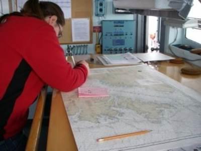 Chartwork old-style: Photo courtesy of NOAA