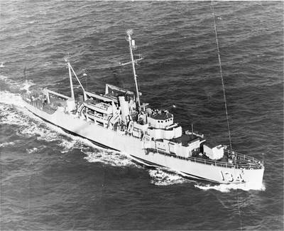 USS Kleinsmith (APD-134). U.S. Navy photo