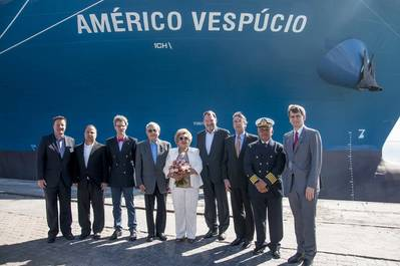 From left to right: Norbert Bergmann, Andre Magalhaes, Julian Thomas, Ivens Dias Branco, Consuelo Dias Branco, Frank Smet, Martin Susemihl, Capt.Carlos Camara und Matthias Dietrich.