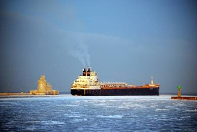 Ship entering: Photo courtesy of Port of Cleveland