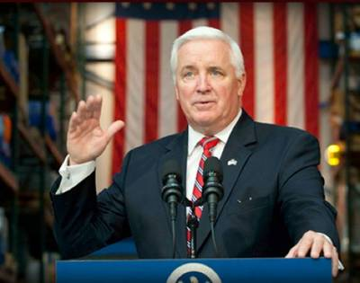 Governor Tom Corbett: Photo courtesy of State Office
