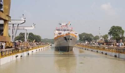 INS Kamorta: Photo credit Garden Reach Shipbuilders & Engineers
