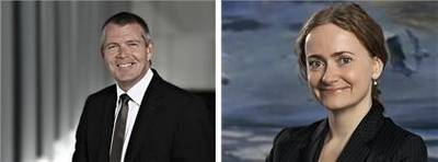 Morten Engelstoft, CEO of Services & Other Shipping, and Hanne B. Sorensen, CEO of Damco