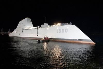 Zumwalt DDG 1000: Photo courtesy of USN