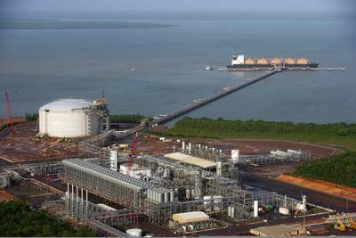 LNG liquefaction plant: Photo credit CLNG