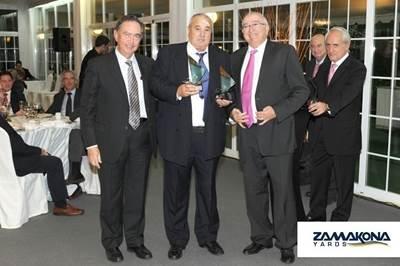 Shipbuilder's award: Photo courtesy of Zamacona