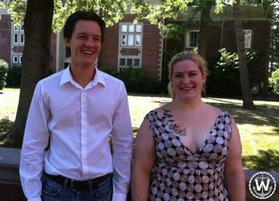 Henry Jansen & Elli Wunder: Photo courtesy of Webb Institute