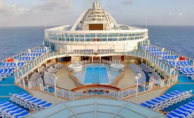 Caribbean Princess Lido Deck: Photo credit Princess Cruises