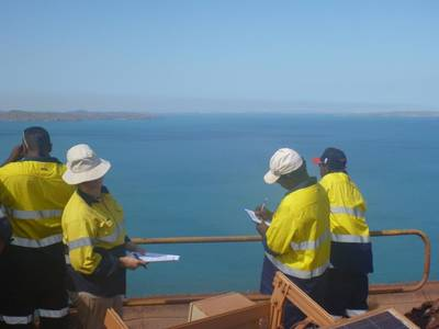 Project scientists at work: Photo credit BMT Oceanica