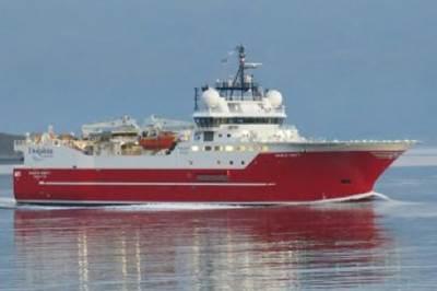 Seismic survey ship Sanco Swift: Photo courtesy of the owners