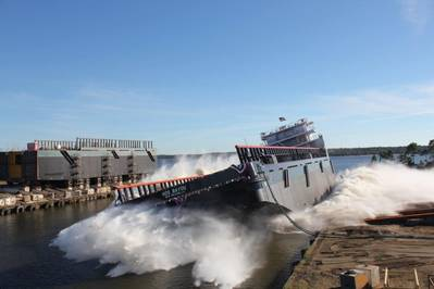 Launch HOS Bayou: Photo credit Eastern Shipbuilding Group