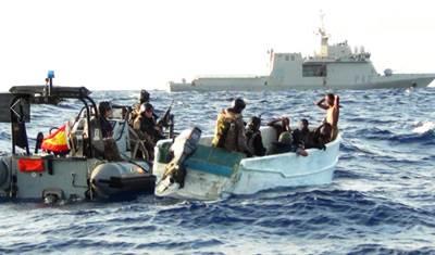 Somali pirates arrested: Photo courtesy of EUNAVFOR