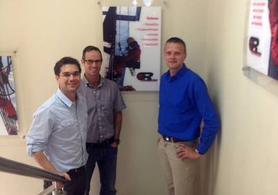 From the left: Riccardo Buehler – Deputy Operations Manager Ropetec, Neil Scheibe – Managing Director Ropetec  and Andy Lipsberg – Co-Owner CrewInspector.
