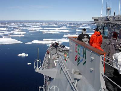 US Warship in Ice: Photo credit USN