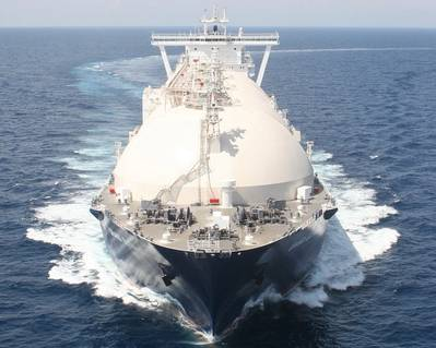 LNG carrier: Photo courtesy of Gazprom