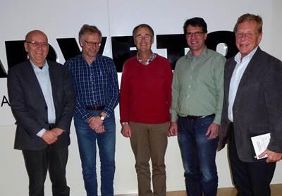 From left Kent Sylvén, Eskil Westermark, Göran P Sjödin, Peter Nilsson and Mikael Olin. Photo Adveto