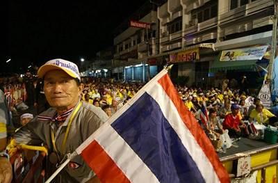 Thai political demonstrator 2007: Photo in public domain