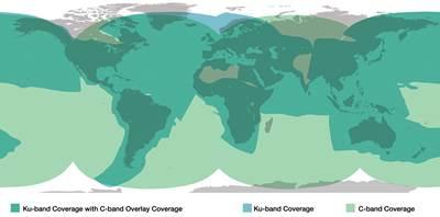 KVH mini-VSAT Broadband coverage map