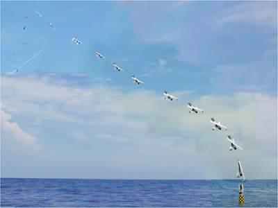 Submarine Launches Aircraft: Photo credit US NRL