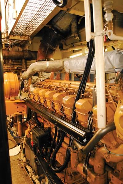 Caterpillar 3516B engine with 3500 emissions upgrade.