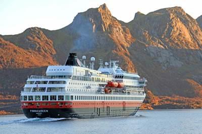 MS Finnmarken undertook a three-month trial of the Navtor ENC Service