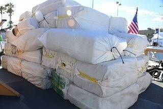 The confiscated drugs: Photo USCG