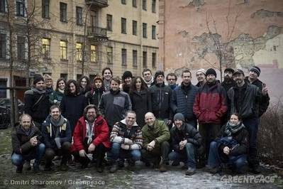 The 'Arctic 30': Photo credit Greenpeace