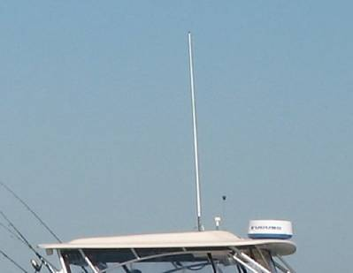 VHF whip antenna: Image in public domain