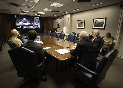 SECNAV video conference: Photo USN
