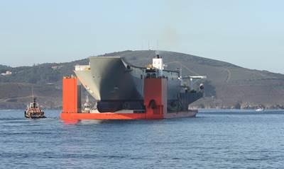 HMAS Adelaide hull: Image credit RAN