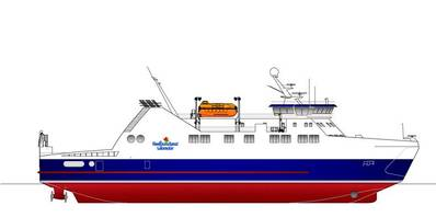 Ice-class ferry rendering courtesy of Damen Shipyards