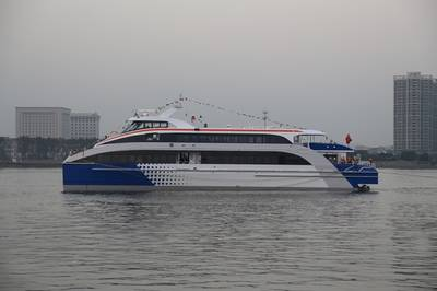 Hi-speed catamaran ferry: Photo credit Afai Southern