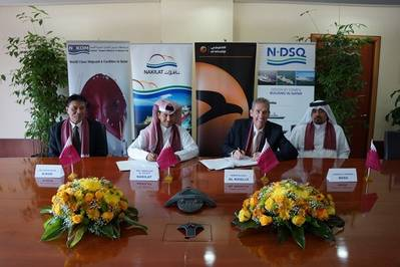 Signing ceremony: Image courtesy of Nakilat