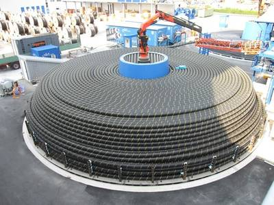 Submarine Cable Turntable: Image courtesy of NKT Cables