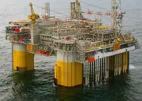 The Kristin platform in the Norwegian Sea (Photo: Trond Sigvaldsen)