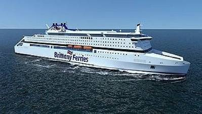 Rendering of the new ferry credit Brittany Ferries