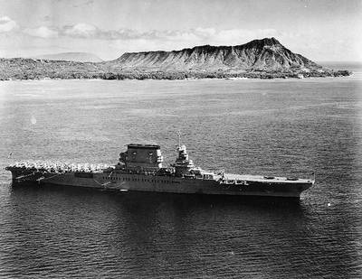 USS Lexington (Official U.S. Navy Photograph, now in the collections of the National Archives.)