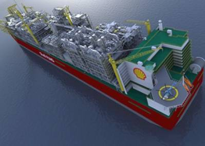Artist's impression of Prelude FLNG courtesy of Shell
