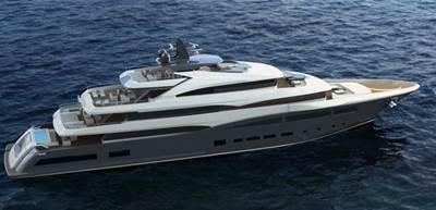 68-m Megayacht rendering courtesy of CRN