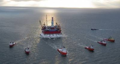 Arctic Drillship: Photo credit Gazprom
