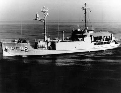 USS Pueblo (U.S. Navy photo)