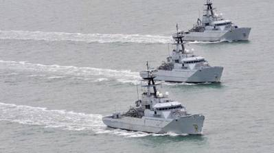 RN River-class patrol boats: Photo credit BAE