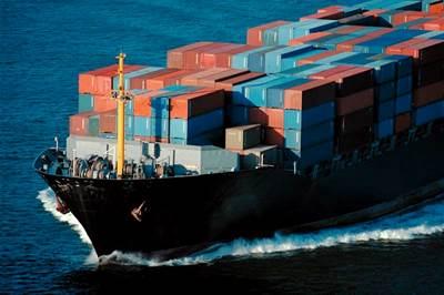 Marad Photo: fully loaded container ship at sea