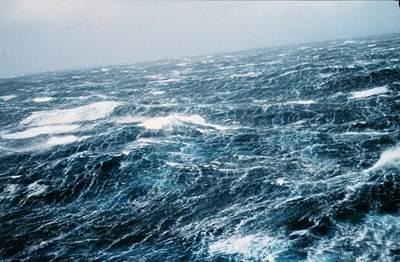 Sea storm wind-waves: Photo courtesy of NOAA